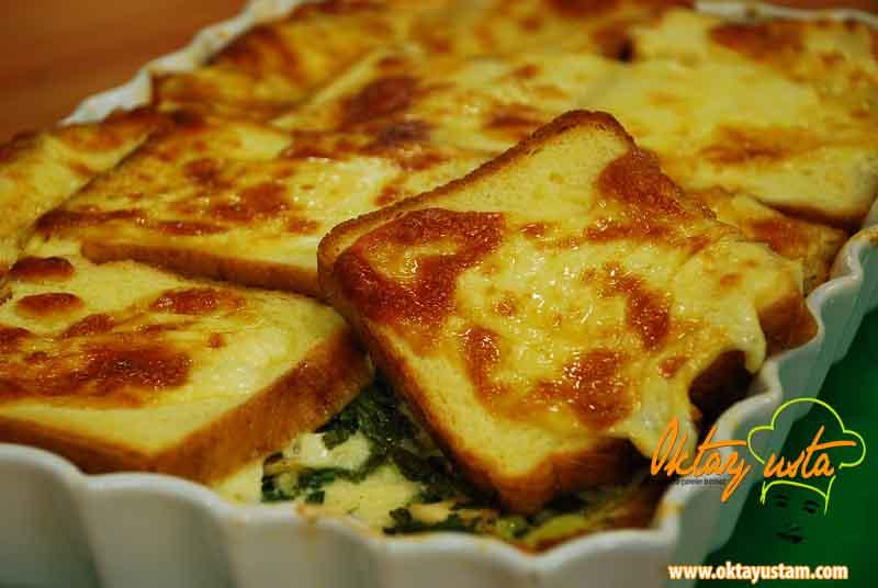 Fırında yumurtalı mantarlı tost ekmeği resimli